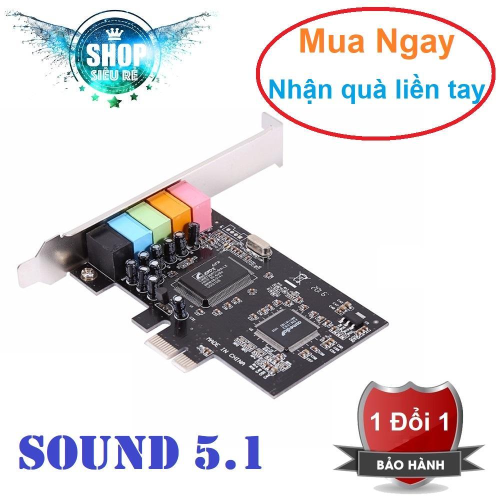 Giá CMI8738 PCI-Express 6-Channels Digital Audio Sound Card SFF For Win 7/XP 24bit – Intl(Đen) Tại Phukiensieure.