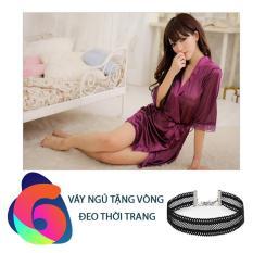 Váy ngủ Lanh + TẶNG VÒNG THỜI TRANG, Thời trang Azado