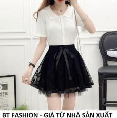 Chân Váy Xòe Lưới Ngắn Duyên Dáng Thời Trang Hàn Quốc – BT Fashion (VA03- Lưới)
