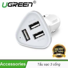 Bộ sạc thông minh 3 cổng USB 2.0 trên ô tô UGREEN CD124 40285 – Hãng phân phối chính thức