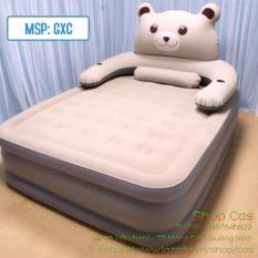 SẢN PHẨM ĐẶC BIỆT – Bộ sp Giường hơi cao cấp hình gấu cao 50cm (1m5 x 2m1)
