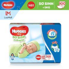 Miếng lót Sơ Sinh Huggies NB1 100 miếng – NB 1 100 (gói 100 miếng)