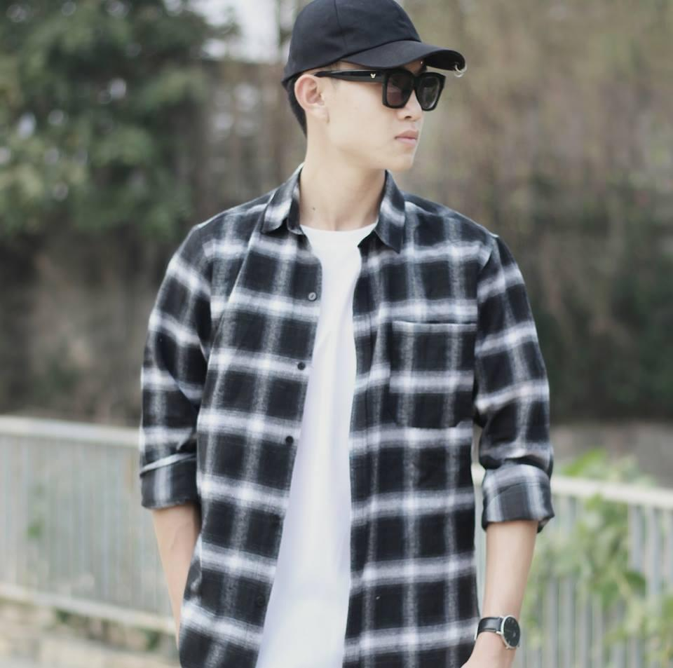 (Ảnh thật) Áo sơ mi nam kẻ caro không nhăn phong cách Hàn Quốc – Thời trang cao cấp Nami KB02 (Đen)