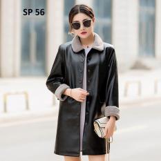 Áo da nữ lót lông cao cấp Family Shop SP56 (Đen)