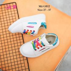 Giày Thể Thao Buộc Dây Và Khóa Kéo Cho Bé Trai Bé Gái GB12