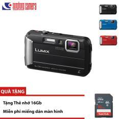 Máy ảnh Siêu bền Chống nước Panasonic Lumix DMC TS30 – Tặng thẻ 16Gb, Màu đen