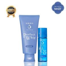 Bộ chăm sóc da Senka Happy Kit (Perfect Whip 120g + Watery oil 35ml)