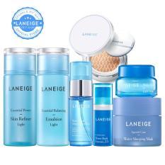 Combo trang điểm dưỡng ẩm dành cho da nhờn dầu Laneige Water Bank