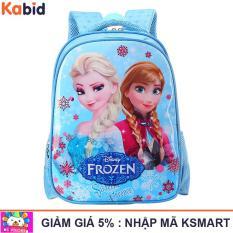 Cặp sách học sinh lớp 1 siêu nhẹ Nữ hoàng băng giá Elsa tặng dụng cụ học tập (Xanh dương)