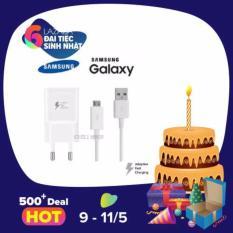 Bộ củ cốc dây cáp sạc nhanh Samsung Galaxy A9 Pro(Trắng)