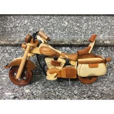 }Bộ 3 xe mô tô + vespa + xích lô + TẶNG 1 móc khóa gỗ di lạc MIỄN SHIP ( Đồ chơi gỗ an toàn loại 1 ) .