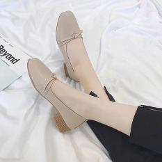 giày búp bê nơ nhí gót 3p mã C15