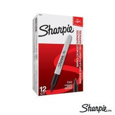 Hộp 12 cây bút lông dầu không phai Sharpie Fine Point – Black (Đen)
