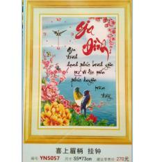 Tranh đính đá 5D- Thư Pháp Chữ Gia đình YN5057- Quốc Thịnh