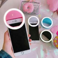 Đèn LED selfie trợ sáng chụp hình điện thoại XJ01 dùng pin tiểu