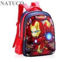 Ba lô siêu anh hùng cho bé mẫu giáo, học sinh cấp 1 siêu nhẹ, chống thấm nước.