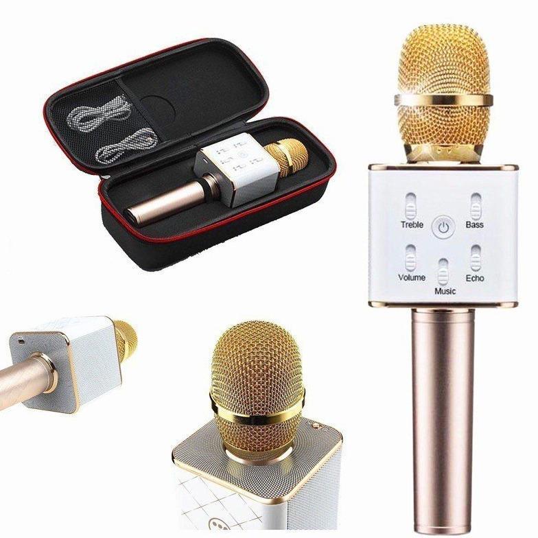 Micro karaoke Bluetooth thế hệ mới 2017 kiêm loa Q7 3 trong 1