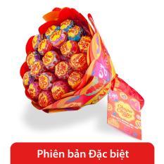 Chupa Chups kẹo mút hương trái cây bó hoa 19 que