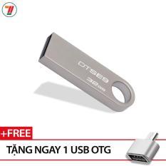 USB Kingston DataTraveler SE9 32GB (Màu Bạc)- Bảo hành 5 năm lỗi 1 đổi 1