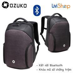Ba lô Laptop thời trang cao cấp Ozuko 8936 (Kết nối Bluetooth, Khóa Chống trộm, chống thất lạc, chống thấm nước)