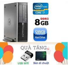 Máy tính đồng bộ HP Elite 8200 ( core i7 2600 /8G/500G ),Bảo hành 24 tháng , Tặng USB wifi , Bàn di chuột – Hàng Nhập Khẩu