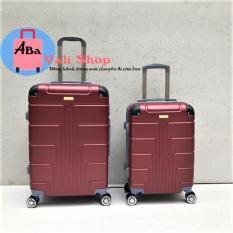 Vali nhựa du lịch 20inch màu đỏ đô (bảo hành 12 tháng )