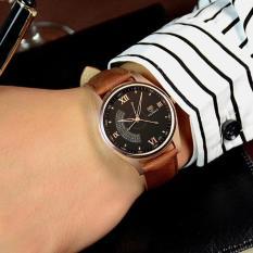 Đồng hồ nam Yazole T02 Classic dây da loại tốt hiển thị Analog