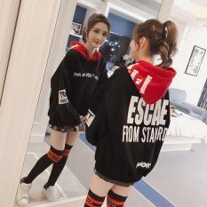 Áo khoác hoodie nữ phối họa tiết siêu đẹp scape