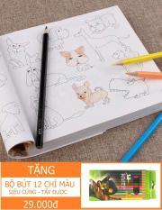 Sách tô màu loại Dày 360 trang – 5000 hình (Tùy chọn: Có kèm hộp bút hoặc Không kèm/ Hàng Thủ công & Nghệ thuật > Bộ đồ chơi thủ công