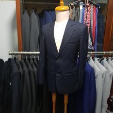 Áo vest trung niên màu xanh đen kiểu 2 nút chất vải kaki dày mịn