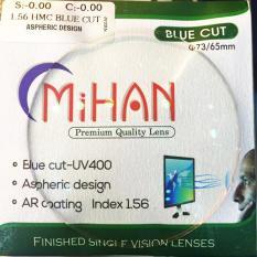 Tròng kính chống Ánh sáng xanh (Blue cut), chống chói, chống UV Hàn Quốc 1.56
