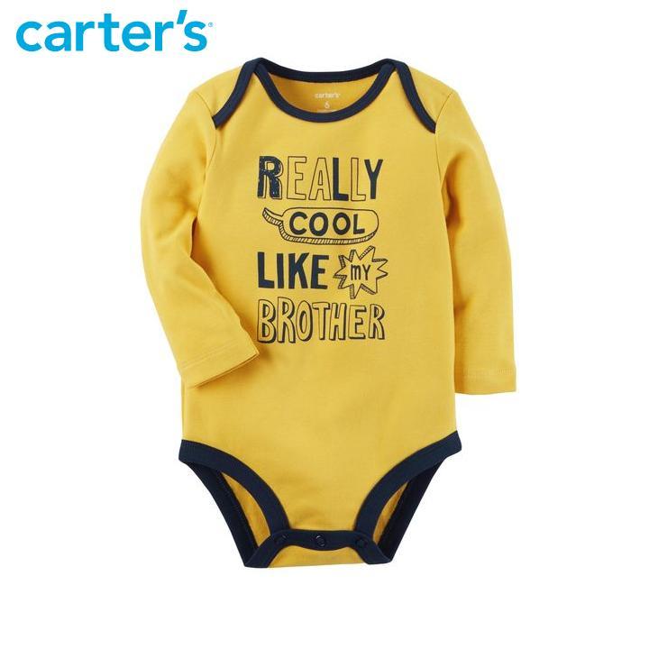 Áo liền quần cho bé trai Carter Nhập Mỹ CA118H665 Size 6M-9M