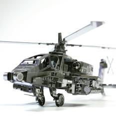 Mô hình kim loại lắp ghép lắp ráp trang trí trưng bày 3D bằng thép không gỉ Trực Thăng Chiến Đấu bằng thép không gỉ( tặng dụng cụ lắp ghép khi mua 2 bộ bất kì)