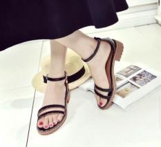 Sandal 2 dây đế boot-Đen