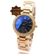 Đồng hồ nữ GUOU GU271 màu vàng hồng đính đá – 3 màu + Tặng kèm vòng đeo tay tỳ hưu