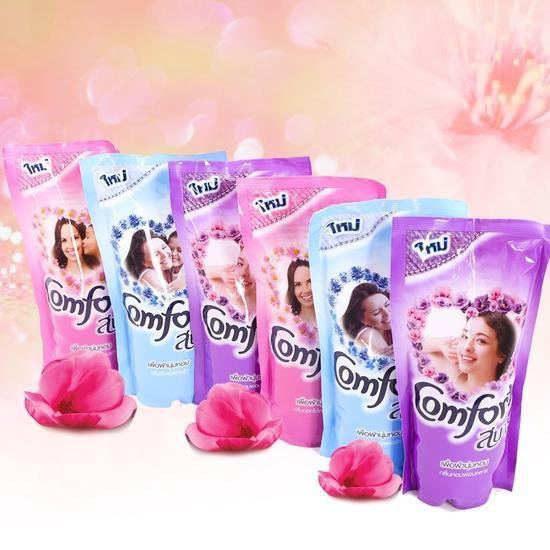 Bộ 8 gói Nước xả vải Comfort Thái 580ml (mỗi gói 580ml )
