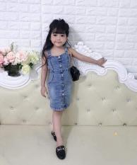 Váy Jean cho bé gái chất co giãn đẹp không kèm áo