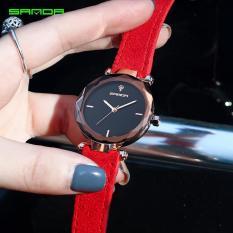 Đồng hồ nữ SANDA JAPAN – Dây da lộn cao cấp Mã máy P218-DH0802