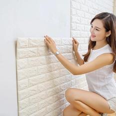 Xốp Dán Tường 3D Giả Gạch / Chịu lực, chống nước, chống ẩm mốc / 70x77cm