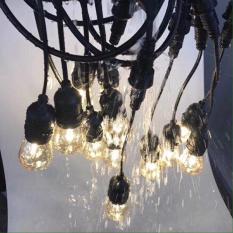 Bộ dây treo kín nước dài 10m 15 đuôi đèn e27