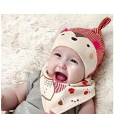 Set mũ yếm cotton cho bé