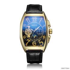 Đồng hồ cơ nam SEWOR dây da lộ cổ điển 5 kim IW-SE02 (viền vàng)