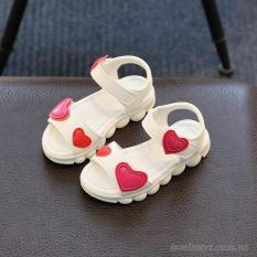 Sandal họa tiết hình tim cho Bé gái