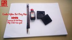 Combo Bút Nghiên Giấy Mực siêu tiết kiệm phù hợp cho bạn tập viết thư pháp
