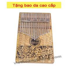 Đàn Kalimba (Piano cầm tay) 17 Phím MYRONMUSIC MK-17KL Gỗ Xoài Mốc + Tặng bộ phụ kiện – Việt Hoàng Phong