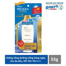 Sữa chống nắng hằng ngày dưỡng trắng Sunplay Skin Aqua Clear White SPF 50+, PA++++ 55g