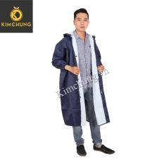 Áo mưa dây kéo Nam – Áo mưa vải dù cao cấp (Xanh Navy)