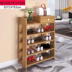 Kệ để giày dép bằng gỗ 5 tầng cao cấp HQ-01
