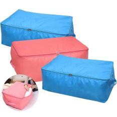 Bộ 3 túi đựng quần áo chăn màn vải dù CHỐNG THẤM (Xanh dương)