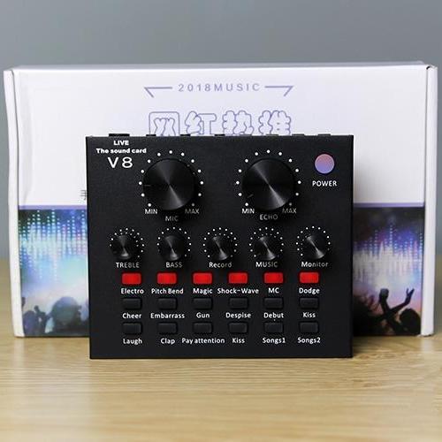 Giá Sound card thu âm V8 có AutoTone Chất Lượng Cao Tại Do Choi PC (Hà Nội)